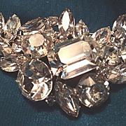 Vintage Kramer Rhinestone Brooch Pin