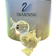 REDUCED Vintage Swarovski Crystal Mini Drake Duck #7660 & Box