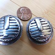 European Sterling Silver Earrings Hallmarked RL, Crown, Leopard Head