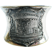 Vintage 1900 Quadruple Silverplate Historical Fort Snelling, Minn. Napkin Ring