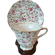 Vintage Chintz Rose Style Tuscan Bone China English Cup & Saucer