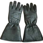 Vintage Vintage Alaska Wear Men's Motorcycle Cow Hide Winter Gloves Sz. M/L
