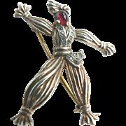 SALE Alfred Phillipe Trifari Rintintin Rag Doll 1943 Sterling Brooch Book Piece