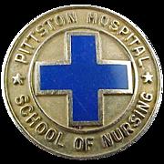 10k Solid Gold Pittston Hospital School of Nursing Pin