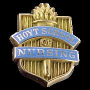 10k Enamel Hoyt School of Nursing Pin