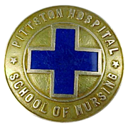 1938 14k Gold Pittston Hospital School of Nursing Pin