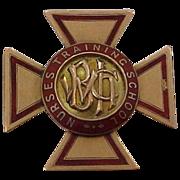 14k Rose Gold 1906 General Hospital Nurses Training School Nursing Pin