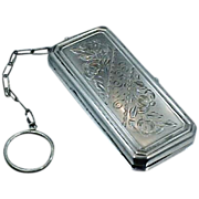 SALE Victorian Sterling Silver Chatelaine Purse