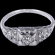 1930s Platinum & Diamonds Art Deco Ring