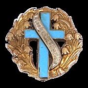 14k Gold & Enamel 1926 Bloomsburg Hospital Nursing Pin