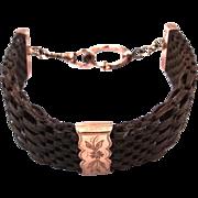Civil War Era Mourning Hairwork Watch Chain In Original Box