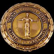 1937 10k Gold University of Pennsylvania Training School For Nurses Nursing Pin
