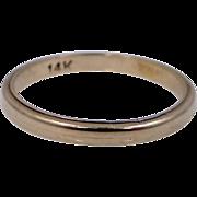 14k Gold Size 5 Vintage Stacking Ring Wedding Band