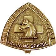 Rare 10k Gold Palmerton Hospital Training School for Nurses Nursing