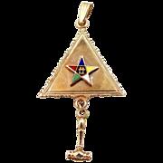 1980's 10k Gold Eastern Star Past President Pendant