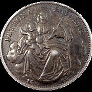 1866 Germany Bavaria Thaler Coin Love Token