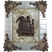 Mother of Pearl Greek Orthodox Religious Icon
