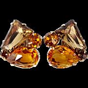Juliana Shades of Topaz Keystone & Pear Shaped Earrings