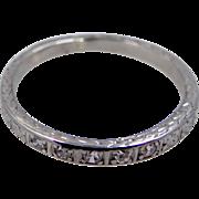 1930's Platinum & Diamonds Eternity Band Size 6 1/4