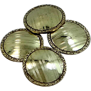 Wolcott Gold Filled Victorian Finely Etched Cuff Links Cufflinks