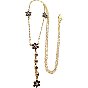 10k Gold Sapphires and Diamonds Necklace