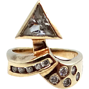 Unusual Abstract 10k Gold Lady's Ring