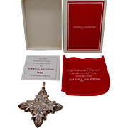 1987 Sterling Silver Reed and Barton Christmas Cross Pendant / Christmas Ornament MIB