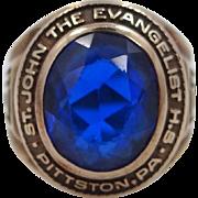 10k Gold St. John the Evangelist High School Pittston, PA 1951 Ring