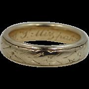 SALE 18k Solid Gold 1878 Mizpah Ring