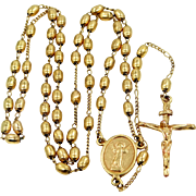 SOLD 1930s Gold Filled Religious Rosary