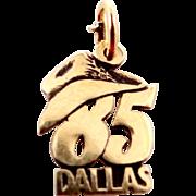 14k Gold Dallas Cowboys Charm