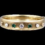 Carl Art 1930s Jeweled Bangle Bracelet