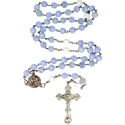 Sterling Silver and Blue Lace Agate Mother Pauline SCC Rosary