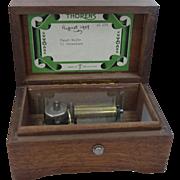Thorens 1957 2 Melody Music Box Switzerland Fine Wood Case