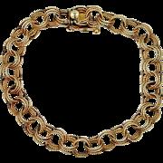 14k Gold Filigree Links Starter Charm Bracelet 9 Grams