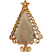 TANCER II Genuine Mink Christmas Tree Pin
