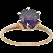 10k Gold Victorian Amethyst Ring