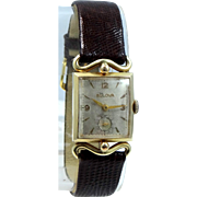 Man's Bulova 1950s Watch With Fancy Lugs 17 Jewels Running Condition