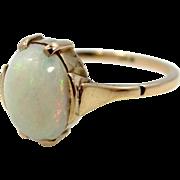 10k Gold Fiery Oval Opal Ring