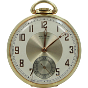1937  Waltham 14k Gold Pocket Watch with Colonial Riverside Movement