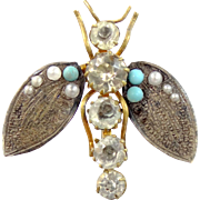 Victorian Figural Insect Hinged Swivel Hat Pin Hatpin