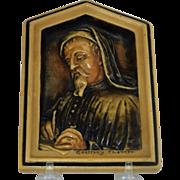 OSBORNE Ivorex plaque Geoffrey Chaucer 1907
