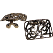 MUSI Shoe Clip - Silver Plated Metal Casting with Numbers