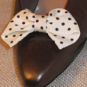 MUSI Shoe Clip –White/Black MiniDot Bow