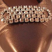 REDUCED MUSI Austrian Crystal Rhinestone Oval Shoe Clip