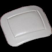MUSI Rectangular Bone Leather Shoe Clip
