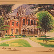 REDUCED Vintage Print of Historic Court House in Georgia by Jon Haber