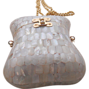 REDUCED Mother of Pearl Box Bag