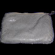 SALE Whiting and Davis Grey Metal Mesh Cosmetic Bag