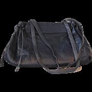 SALE Vintage Carlos Falchi Navy Purse Handbag with Double Shoulder Straps